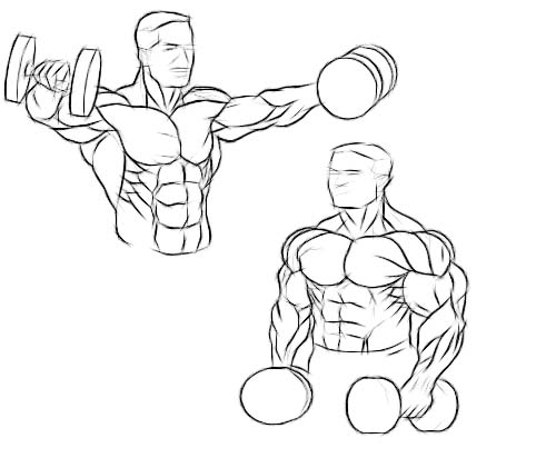 standing dumbbell lateral raise demo