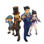 N3DS ProfLaytonVsPhoenixWright Characters Luke Layton Phoenix Mayoi 150x150 E3 2014 Professor Layton vs. Phoenix Wright: Ace Attorney (3DS) English Logo, Box Art, Artwork, Screenshots, & Trailer