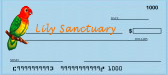 Make check payable to The Lily Sanctuary