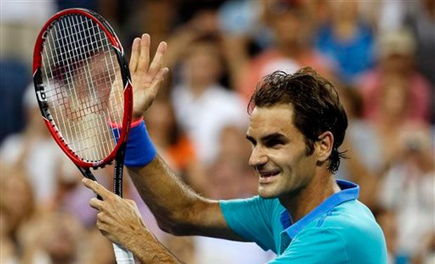 Roger Federer, the champion between 2004-2008, came back from a set down to defeat Spain's Marcel Granollers 4-6, 6-1, 6-1, 6-1 by racing away with 20 of the last 24 games of the match which had been interrupted due to rain and the threat of