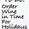 Christmas Delivery Deadlines for Wine