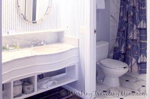 Disney World Yacht Club Resort guest room bathroom