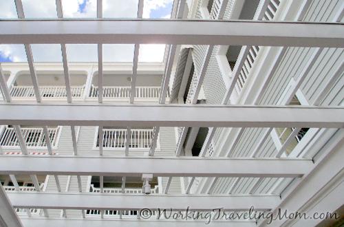 Disney World Yacht Club Resort patio slatted roof