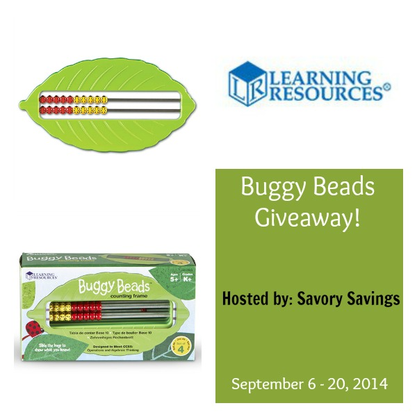 Learning Resources Buggy Beads Giveaway September 6-20