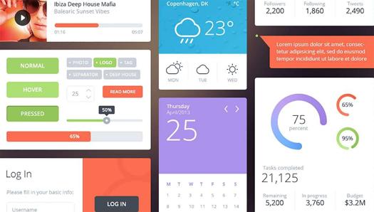Free Download Flattastic UI kit