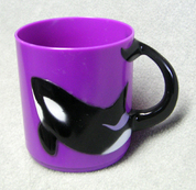 Orca or Killer Whale Children's Plastic Drinking Cup (purple)