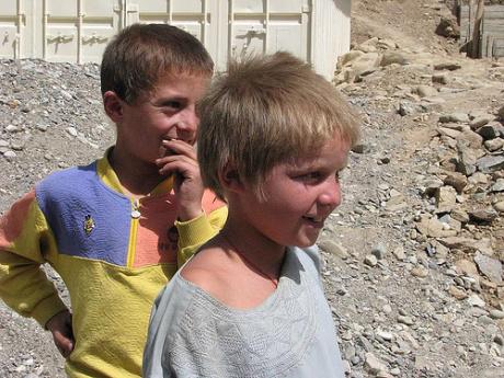 Young Tajik boys in Tajikistan
