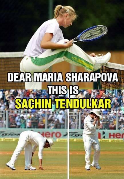 Dear Maria Sharapova This is sachin tendul;kar Top Pics