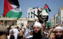 Hamas supporters demonstrate in Gaza, 2013. ( AFP )