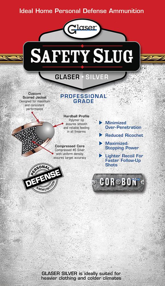 Cor-Bon 00900 Glaser Safety Slug Silver 9mmX18mm Makarov Round Nose 75GR 6Pk