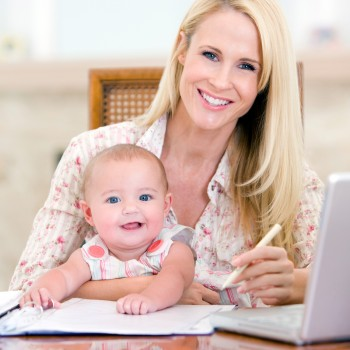 working-mom-computer-child