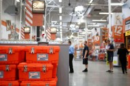 Checking out at Home Depot