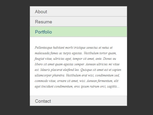 CSS Only Accordion Example