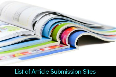 List of Article Submission Sites