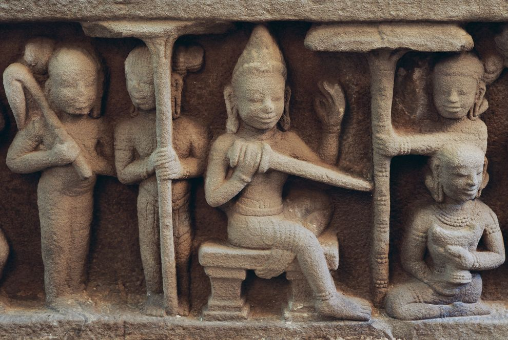 Photo of a bas-relief sculpture from the My Son temple.