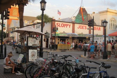 Sloppy Joe's Bar on Duval and Greene Streets, Key West.