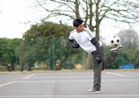 Farid Abbas, champion de freestyle football