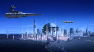 "Lothal's cities in ""Star Wars Rebels"" draw their inspiration from Ralph McQuarrie's Alderaan. (Lucasfilm)"