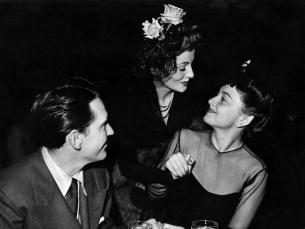 Joan Fontaine, Olivia de Havilland, Burgess Meredith