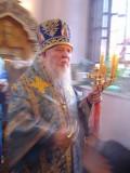 Highlight for Album: Архиепископ Лазарь служит Акафист пред Чудотворной Иверской иконой Божией Матери