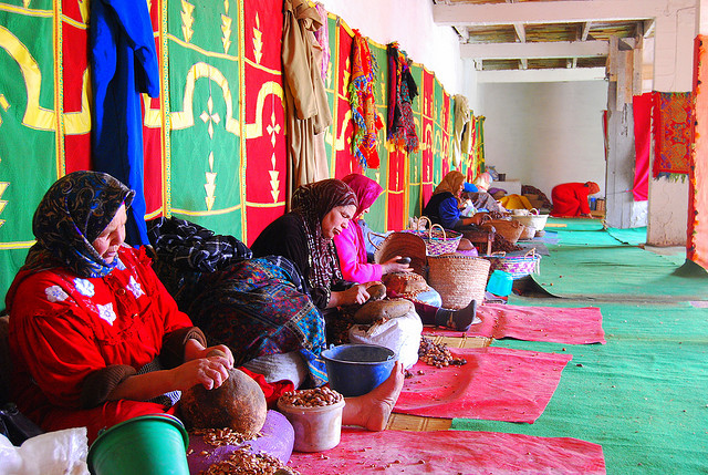 Woman's Argan oil co-operative - from Ziliv (Flickr)