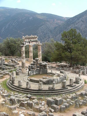 Tholos temple, sanctuary of Athena Pronaia, 4th century B.C.E., Delphi, Greece, photo: kufoleto