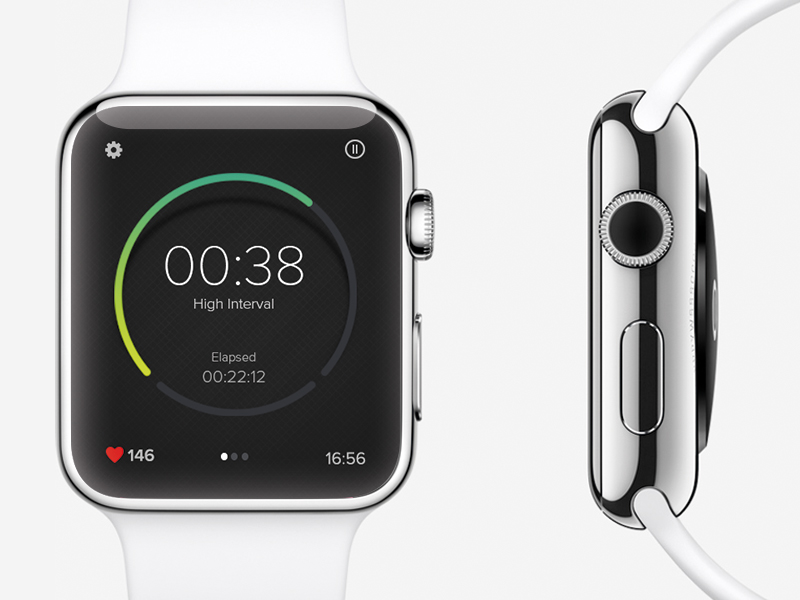 interval timer concept 12 sweet looking Apple Watch app designs