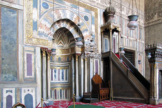 Mihrab and minbar, Mosque of Sultan Hassan, Cairo