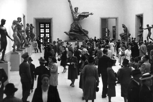 View of sculpture exhibited at the Haus of German Art, n.d.