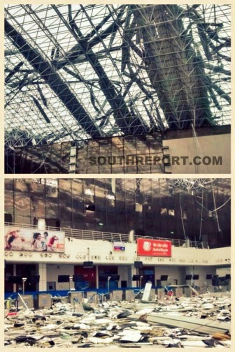 Vizag airport hit by Hud Hud cyclone