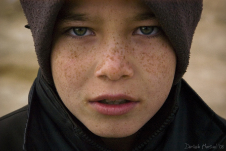 Picture of an Afghan boy from a refugee camp in Semnan, Iran