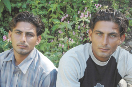 Young men from Heam, in the north of India