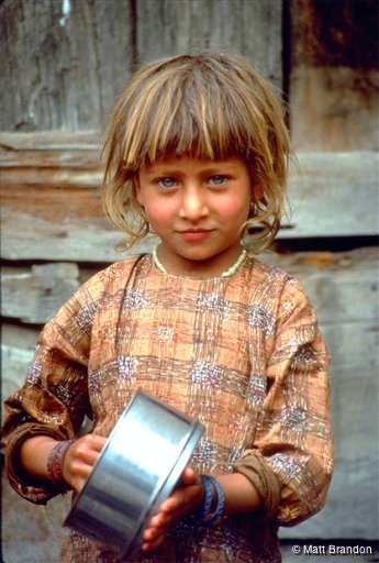 Young Indian girl from Kashmir, northwest of India