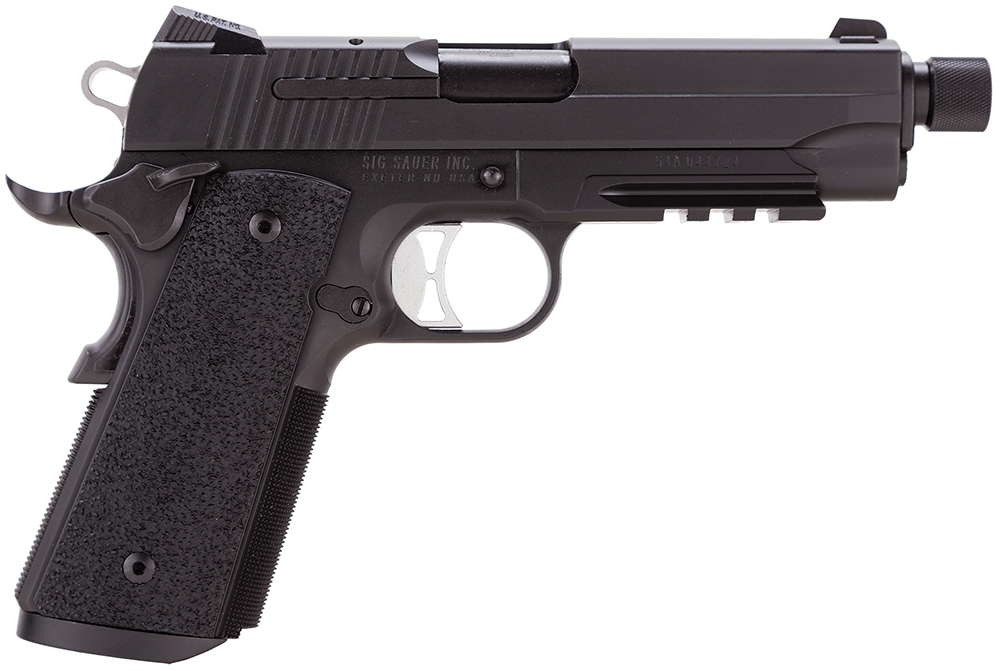 "Sig Sauer 1911CAR45TAC 1911 Tacops 45ACP 5"" Threaded 8+1 Ergo XT Grip Black"