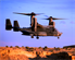 A CV-22 Osprey assigned to the 71st Special Operations Squadron, 58th Special Operations Wing, Kirtland Air Force,  Base New Mexico, prepares to land as part of a training mission in Northern New Mexico.