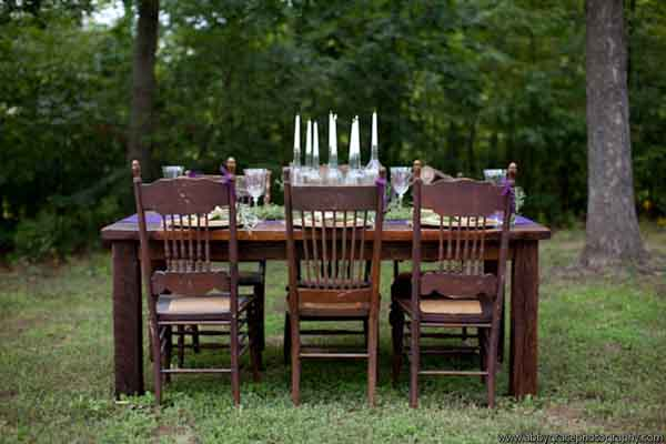 vintage dining table and chairs, vintage tablescape