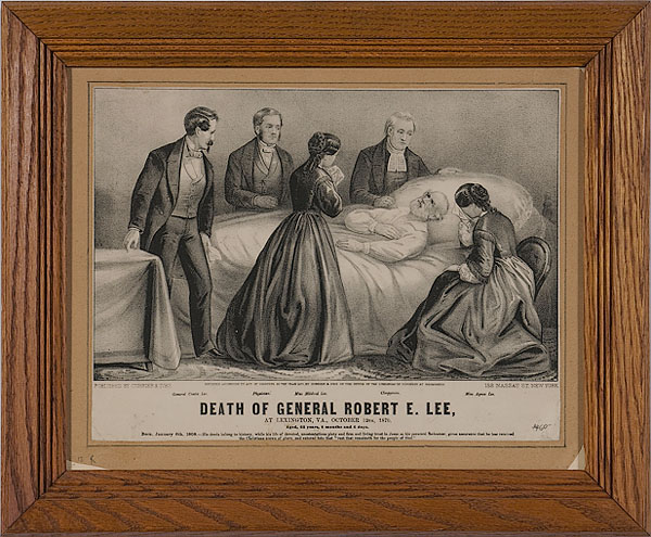 Small Folio Currier & Ives, <i>Death of General Robert E. Lee</i>,