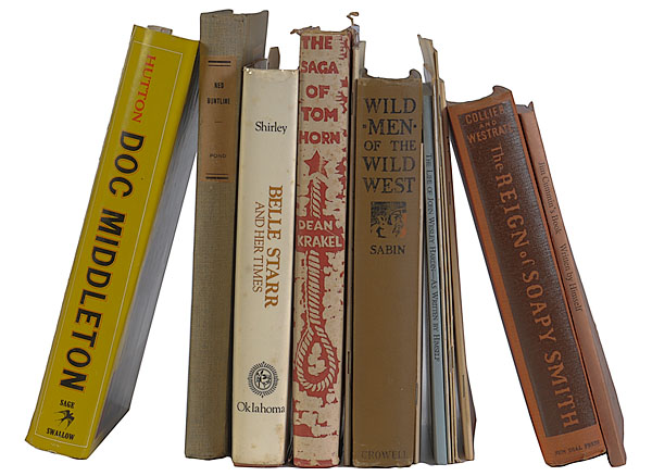 Fourteen Books on Western Outlaws, Many Author Signed,