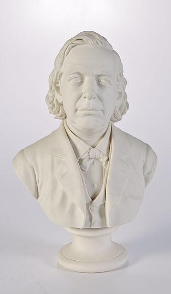 Parian Bust of Henry Ward Beecher, by Robinson & Leadbeater,