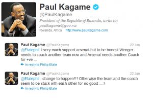Kagame's Tweet