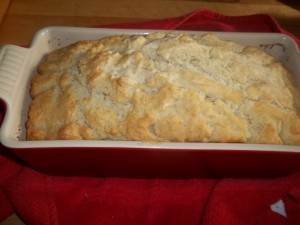 Simple Soda Bread baked in Le Creuset stoneware