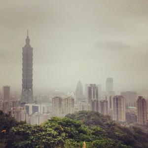 Hiking Elephant Mountain Overlooking Taipei 101