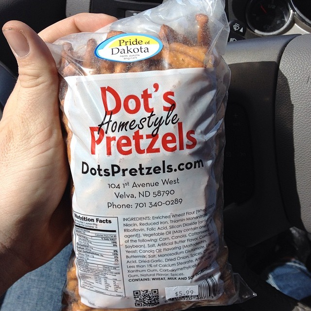 Find of the week! Dots pretzels. I can't believe I've been missing out on this all my life. #NDAg cc: @katpinke @sunflowerfarmer @prairiecalifornian