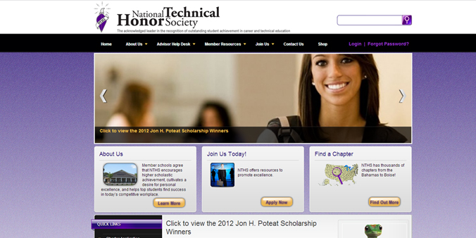 Drupal Web Site – National Technical Honor Society