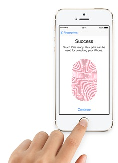 iphone5s with fingerprint sensor and touch id
