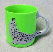 Harbor Seal Children's Plastic Drinking Cup (green)