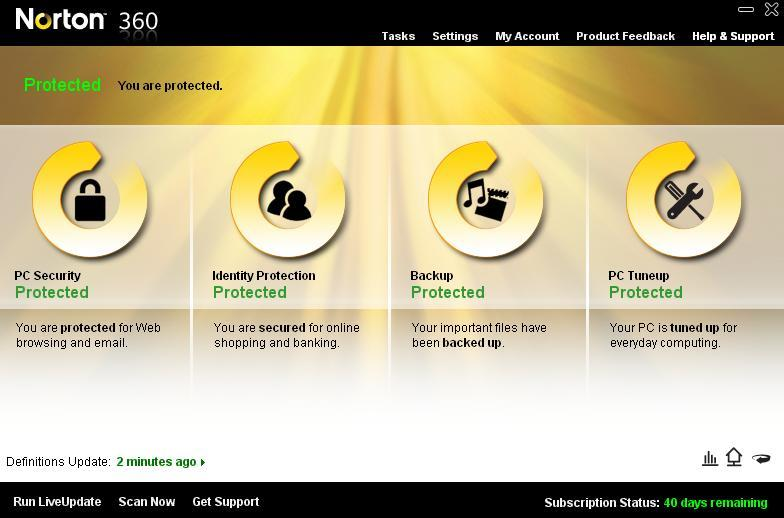 features of norton 360