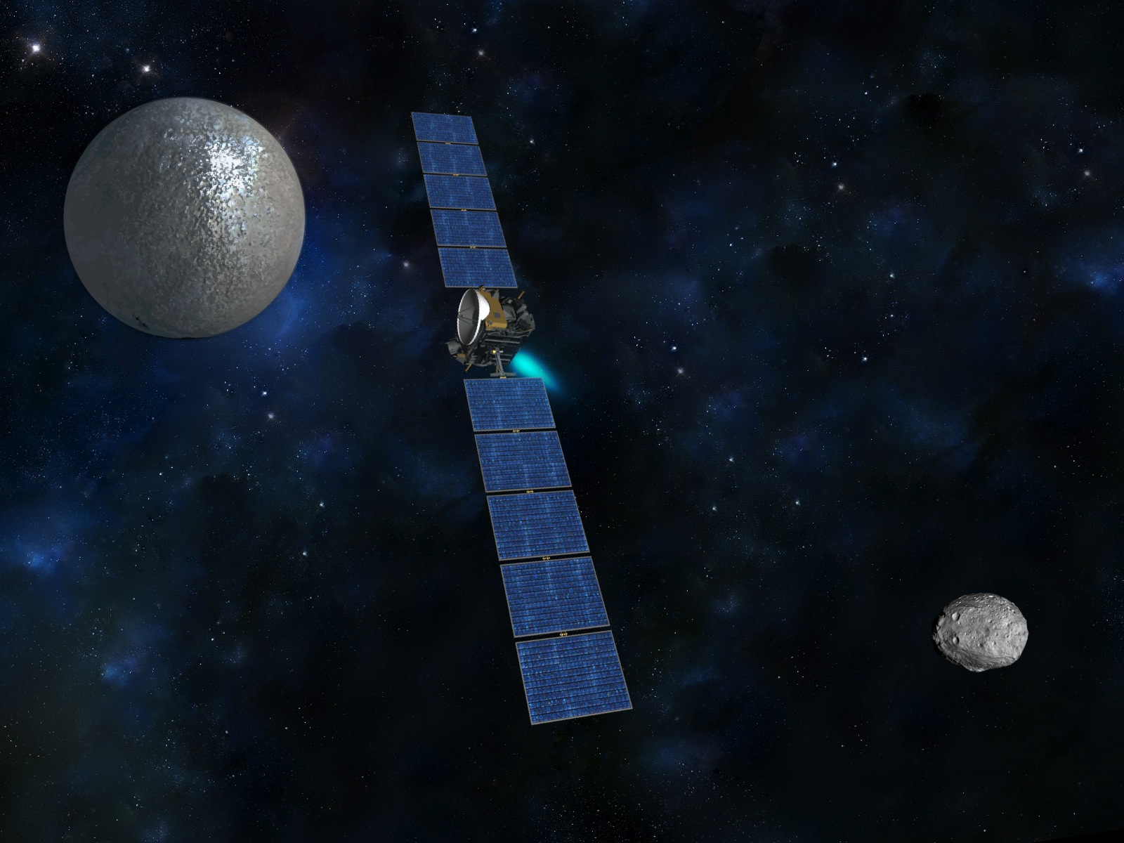 Dawn from Vesta to Ceres