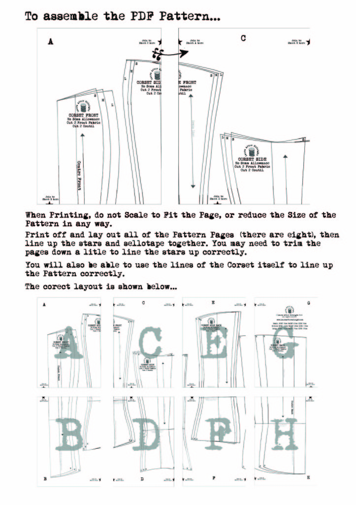 assemble the pattern instructions