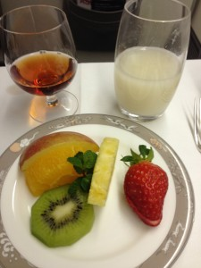 Fruits, Korean Rice Wine, and Dessert Wine